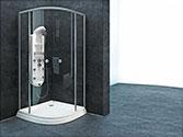 پارتیشن دوش حمام باداب خانگی مدل Curve