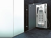 پارتیشن دوش حمام باداب خانگی مدل Frameless