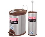 سطل و برس دستشویی و حمام سطل و برس مدل 005BR