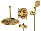شیرآلات دوش زیگموند طلا Brass  مدل  توکار