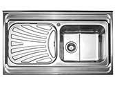 سینک ظرفشویی استیل البرز روکار مدل 711_60