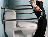 دستگیره اتکا توالت فرنگی استیل مدل تاشو